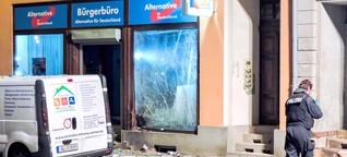 Angriffe auf AfD-Politiker: Nun sogar mit Bomben