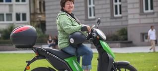 Düsseldorf: Unterwegs mit dem Elektroroller
