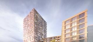 In der Hafencity entsteht das größte Holzhaus Deutschlands