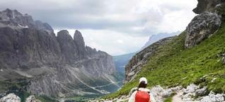 Hochtour in den Dolomiten. Auf der Krone des Grödentals