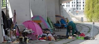 Obdachlose leben im Regierungsviertel: Das Elendsquartier im Schatten der Macht