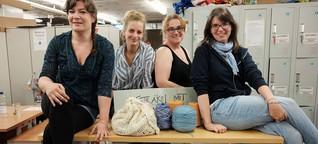 """Die """"Wooligans"""" stricken für obdachlose Menschen in Hamburg"""