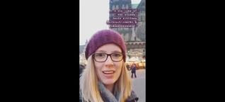 Instagram-Story von der Eröffnung des Bremer Weihnachtsmarktes 2018