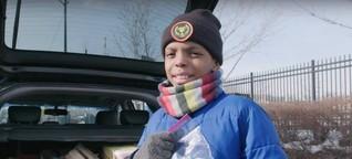 Dieser 11-Jährige unterstützt Obdachlose - und hat eine Botschaft an andere Kinder