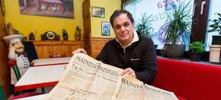 Weinheimer Pizzabäcker entdeckt in einem alten Klavier Zeitungen aus dem Jahr 1946 - Allgemeine Zeitung