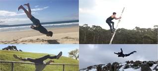 Dieser Akrobat zeigt auf Instagram die verrücktesten Stunts - und seine Fails