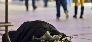 Am Frankfurter Flughafen übernachten rund 200 Obdachlose