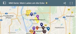 Karte + Spreadsheet: Mein Laden um die Ecke