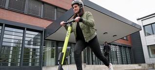 E-Scooter in Hamburg: So fährt es sich am Desy