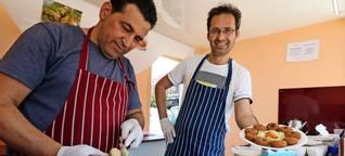 Falafel auf dem Wochenmarkt: Syrer starten Business