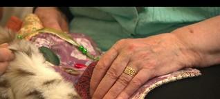 Eingenähte Erinnerungen - Fühldecken für Demenzkranke