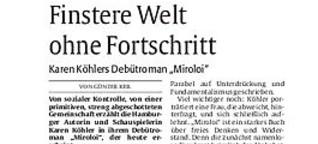 """Rezension von Karen Köhlers """"Miroloi"""""""
