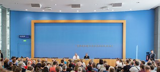 In Germany, the press hosts the press briefings
