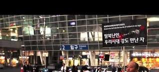 Korea Busan Montagsdemo für Freiheit in Nordkorea MDR/ARD