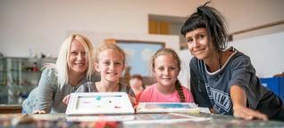 Bochumer Schulkinder basteln Mülleimer der Zukunft