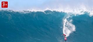 Mit Big-Wave-Surfer Greg Long an der Bar