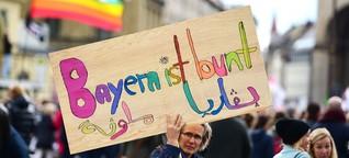 """Demo in München: """"Wenn die AfD die Antwort sein soll, wie dumm ist dann die Frage?"""""""