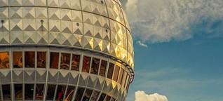 Arbeiten im Himmel über Berlin