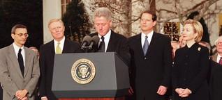 Amtsenthebungsverfahren gegen US-Präsident: Als Clinton das Impeachment traf
