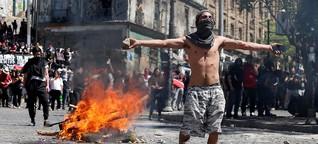 """Wut auf Chiles Elite und """"Krieg"""" gegen das Volk"""