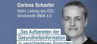 Corinna Schaefer: Gesundheitsinformationen sollten anlassbezogen sein