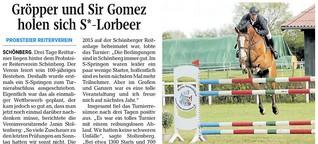 Gröber und Sir Gomez holen sich S*-Lorbeer