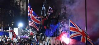 Brexit-Party mit Prosecco und Bengalos