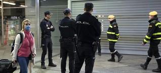 "Ausgangssperren in Spanien: ""Frenar la curva"""
