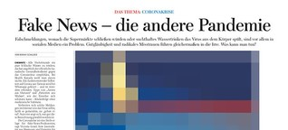 Fake News - die andere Pandemie