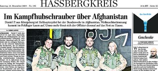 Im Kampfhubschrauber über Afghanistan