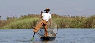 Am Inle See in Myanmar: Schwimmende Gärten