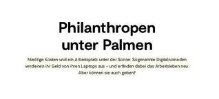 Philanthropen unter Palmen