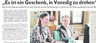 Schauspielerin Annett Renneberg ist die Signorina Elettra