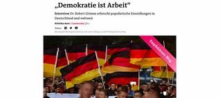"""""""Demokratie ist Arbeit"""""""