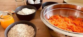 Karotten Orangen Kokosnuss Frischkäsekuchen