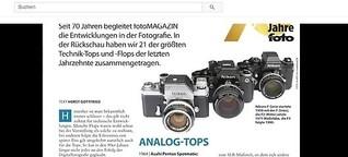 GESCHICHTE: Fototechnik: TOPS UND FLOPS [fotoMAGAZIN 4/2019]