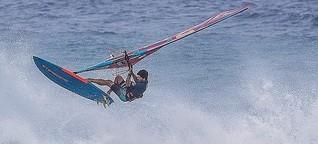"""Windsurfer Philip Köster: """"Ich mag es eher ruhig, nur auf dem Wasser darf es stürmen"""""""