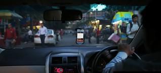 Ein neuer Taxidienst in Delhi bietet Fahrten nur für Frauen an