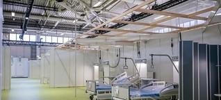 rbb-exklusiv | Berliner Corona-Behandlungszentrum startet mit 84 Betten