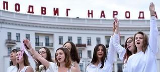 """Augenzeugin: """"Die Situation ist einmalig für Belarus"""""""