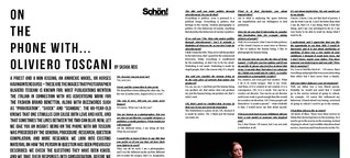 Schön! Magazine: On the phone with... Oliviero Toscani