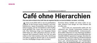 Café ohne Hierarchien