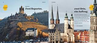 Zwei Reporter, ein Auftrag