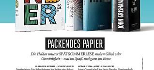 Literaturseite im Playboy 09/20