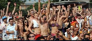 Public Viewing: Zum Fußball schauen am richtigen Platz stehen