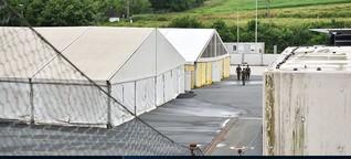 Spielfeld - eine Zeltstadt ohne Flüchtlinge