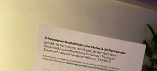 Coronavirus - Maßnahmen: Gästeliste in der Wiener Gastronomie - Erhebung von Kontaktdaten