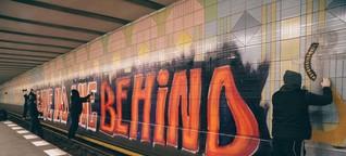 Berliner Graffiti-Kollektiv 1UP macht Politik mit der Sprühdose