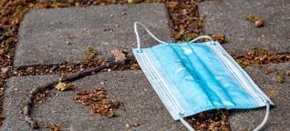 Schädlich wie Plastiktüten: So problematisch sind Einwegmasken für die Umwelt