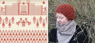 Rufina verarbeitet Bilder der Proteste in Belarus in Stickerei-Motiven
